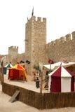 medeltida slott Arkivfoto