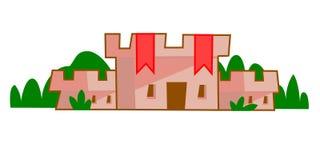 medeltida slott stock illustrationer