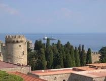 medeltida slott Royaltyfri Bild