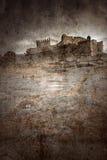 medeltida slott royaltyfri illustrationer