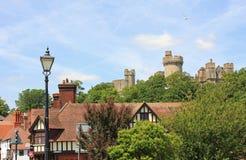 Medeltida slott arundel, sussex royaltyfri fotografi