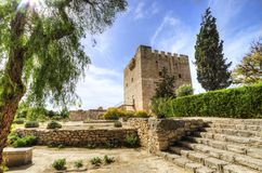 Medeltida slott av Kolossi, Limassol, Cypern arkivbilder