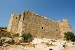 Medeltida slott av Kritinia i Rhodes Greece Arkivfoto