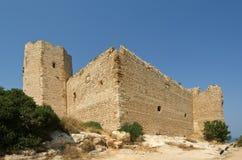 Medeltida slott av Kritinia i Rhodes Greece Royaltyfri Fotografi