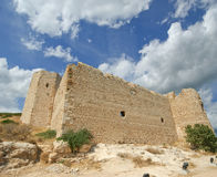Medeltida slott av Kritinia i Rhodes Greece, Dodecanese Fotografering för Bildbyråer