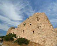 Medeltida slott av Kritinia i Rhodes Greece, Dodecanese Royaltyfria Foton