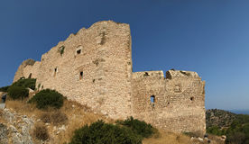 Medeltida slott av Kritinia i Rhodes Grekland, Royaltyfri Bild