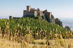 Medeltida slott av Loarre i Huesca Royaltyfria Foton