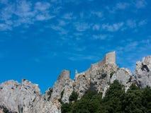 Medeltida slott av Peyrepertuse Royaltyfri Bild