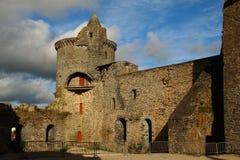 Medeltida slott av Vitré, Brittany, Frankrike Fotografering för Bildbyråer