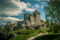 Medeltida slott Bedzin poland fotografering för bildbyråer