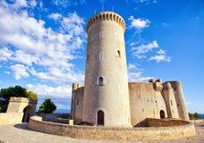 Medeltida slott Bellver i Palma de Mallorca Arkivfoto