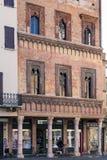 Medeltida slott Casa del Mercante i Mantua Arkivbild