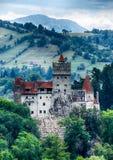 Medeltida slott för kli, Transylvania, Rumänien arkivbild