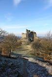 medeltida slott för 13th århundrade i Holloko, Ungern, 3 Januari 2016 Royaltyfri Bild