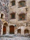 Medeltida slott från det 13th århundradet Arkivbild