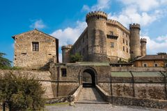 Medeltida slott i Bracciano, Italien Royaltyfri Bild