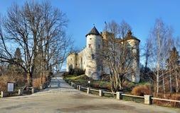 Medeltida slott i Niedzica, Polen arkivbilder
