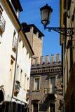 Medeltida slott i Padua i Venetoen (Italien) Royaltyfri Foto