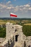 Medeltida slott i Polen Europa arkivbilder