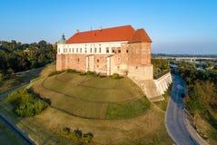 Medeltida slott i Sandomierz, Polen Fotografering för Bildbyråer