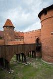 Medeltida slott Malbork Arkivbild