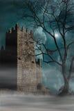 medeltida slott Obidos portugal Arkivbilder