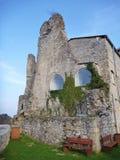 Medeltida slott Stari som är akademiker i Celje i Slovenien Royaltyfri Bild