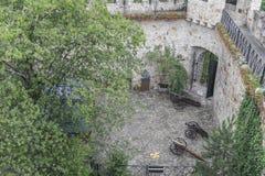 Medeltida slott Tropsztyn i Polen Arkivfoto