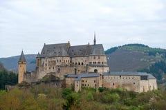 Medeltida slott Vianden Arkivfoton
