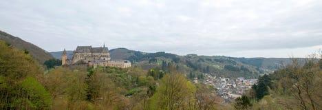 Medeltida slott Vianden Arkivbild