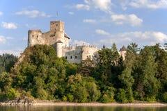 Medeltida slott Zamek Niedzica, Polen arkivfoto