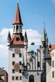 medeltida slottfacade Arkivfoto