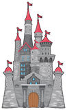 medeltida slottfantasi Royaltyfria Foton