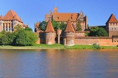 medeltida slottmalbork Arkivbild