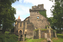 medeltida slottport Arkivbild