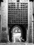 medeltida slottport Royaltyfri Bild