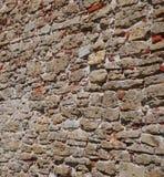 Medeltida slottväggtextur Arkivfoton