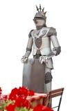 Medeltida soldat för uppassare Arkivbild