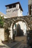 Medeltida sommarhus av den Buca familjen Tivat Montenegro Royaltyfri Fotografi