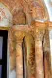 Medeltida stärkt kyrka i Avrig, Sibiu, Transylvania Arkivfoto