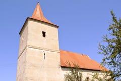 Medeltida stärkt kyrka i Avrig, Sibiu, Transylvania Royaltyfria Foton