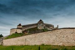 Medeltida stärkt slott royaltyfria foton