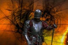 medeltida stående för riddare royaltyfri illustrationer