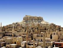 medeltida stad Arkivbilder