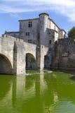 Medeltida stad av Aigues Mortes Arkivbild