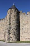 Medeltida stad av Carcassonne, Frankrike Fotografering för Bildbyråer