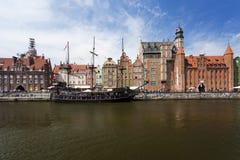 Medeltida stad av Gdansk Fotografering för Bildbyråer