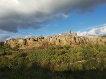 Medeltida stad av Pitigliano royaltyfria bilder