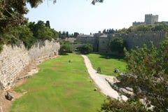 Medeltida stad av Rhodes Royaltyfria Foton